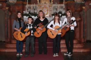 Unser Jugendorchester in der Pfarrkirche Urexweiler, 2010